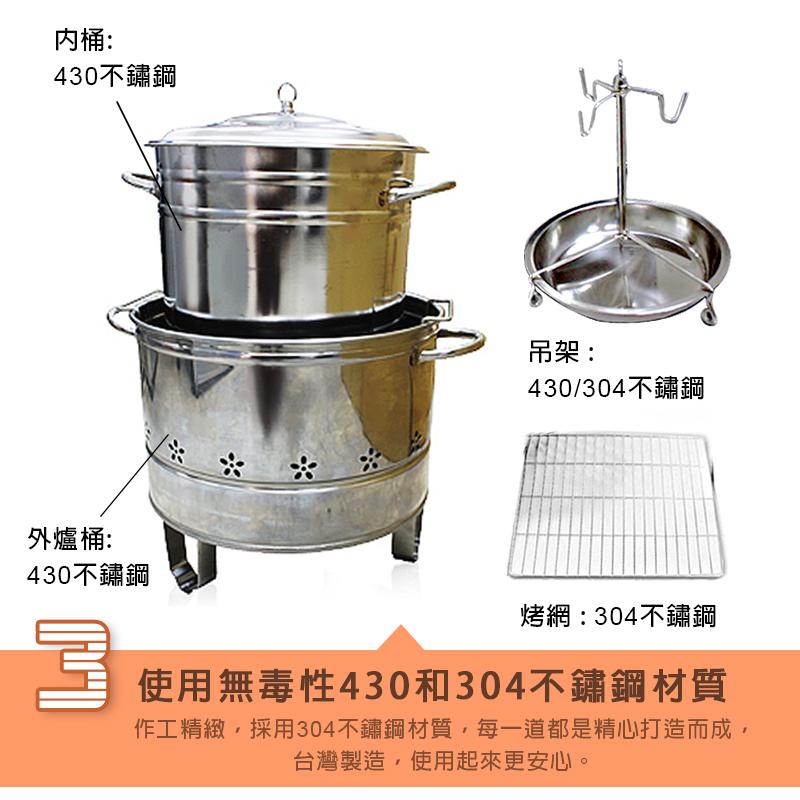新一代多功能桶仔雞控窯烤燉爐